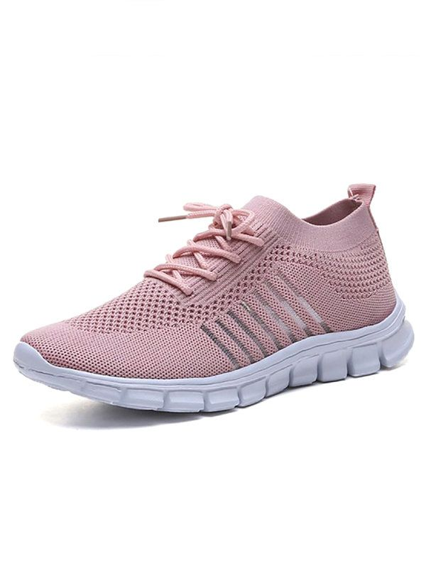 Womens Mesh Sport Shoes Knitted Breathable Casual Lightweight Athletic Sneakers
