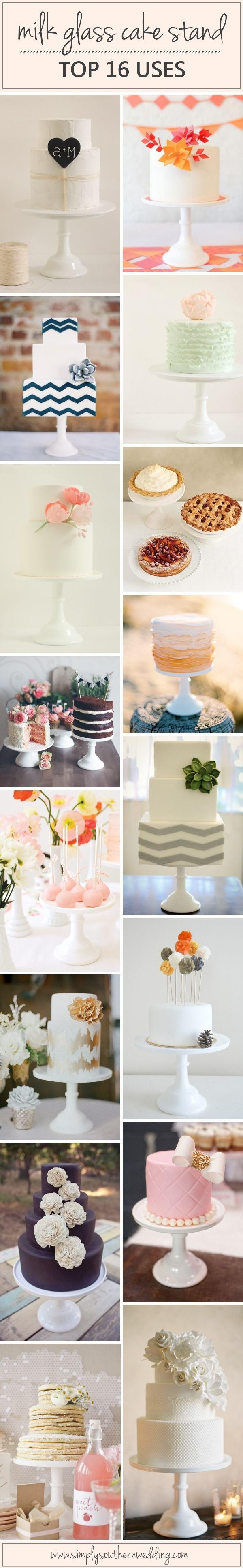 Classic Milk Glass Cake Stand - Top 16 Uses! | Shop SimplySouthernWedding.com