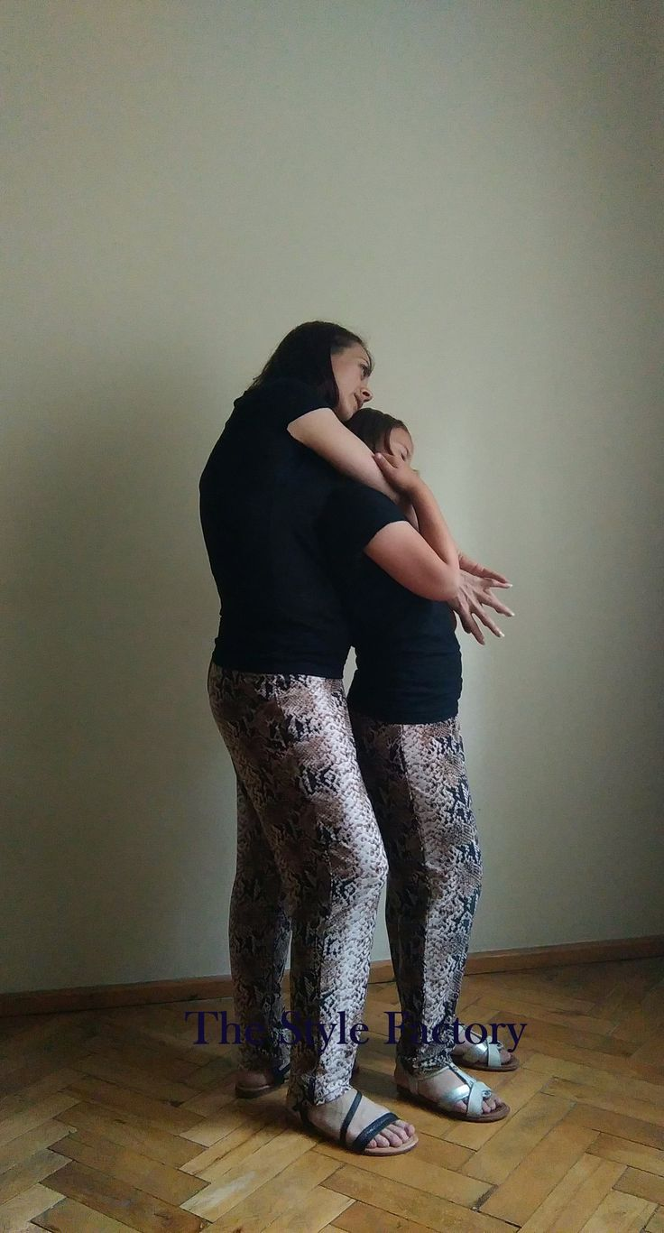 Pants for mom and daughter - pattern snake skin //thestylefactory.pl//