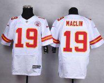 Kansas City Chiefs #19 Jeremy Maclin Elite White Jersey