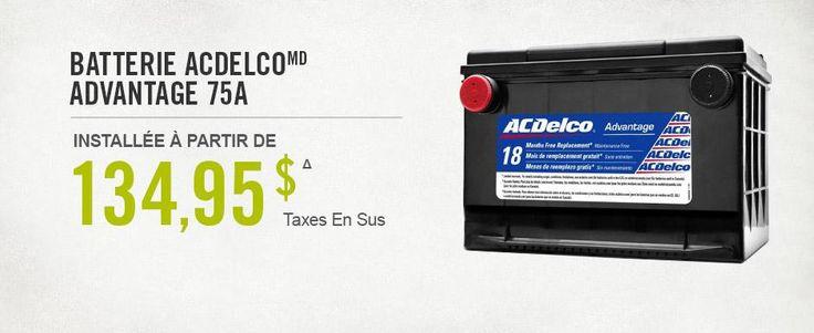 ACDelco installée à partir de 134,95 $
