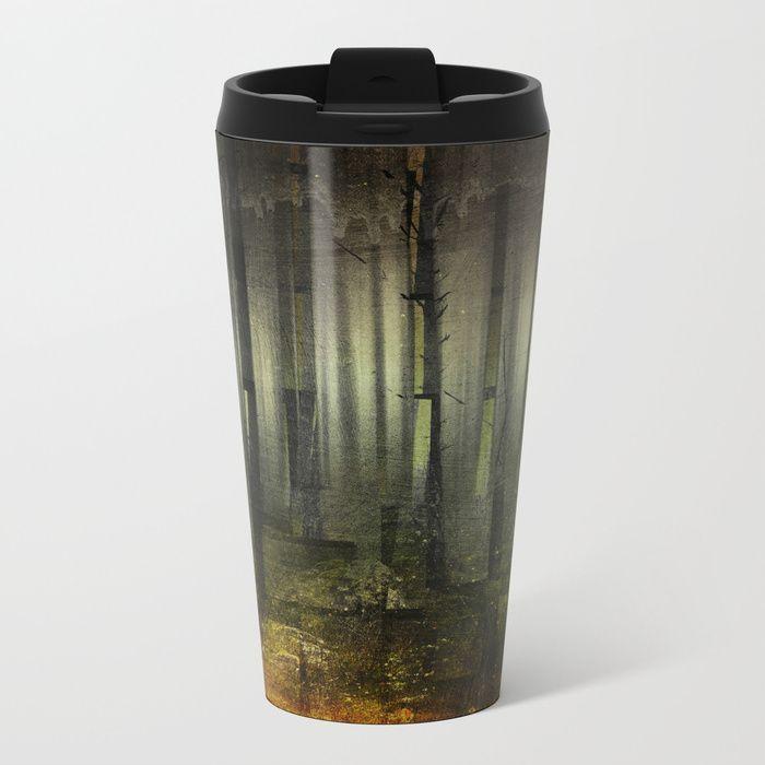 Why am I here Metal Travel Mug by HappyMelvin. #nature #darkforest #forests #original #homedecor #travelmug #mugs