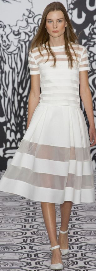 London Fashion Week Spring 2014 Jasper Conran, hope they have a NON see-through one!