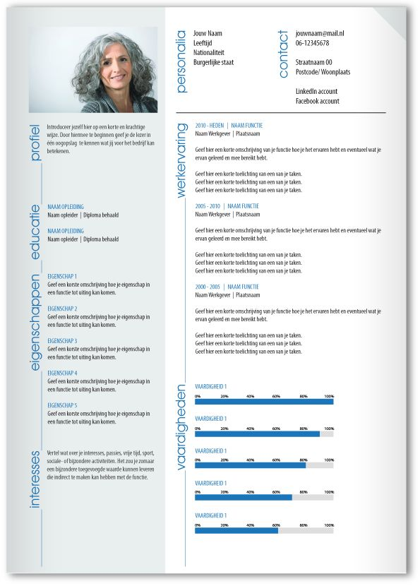 46 best CV templates van MooiCV 1pg images on Pinterest | Cv