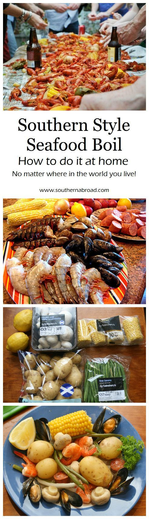Southern Style Seafood Boil, crawfish boil, crab boil, crawfish recipe, seafood recipe, shrimp, mussels, party food