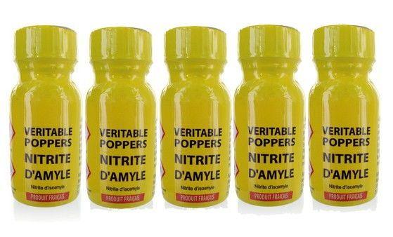 Lot de 5 Poppers véritable au nitrite d'amyle - Articles érotiques/Poppers et arômes - Maxim'Hom
