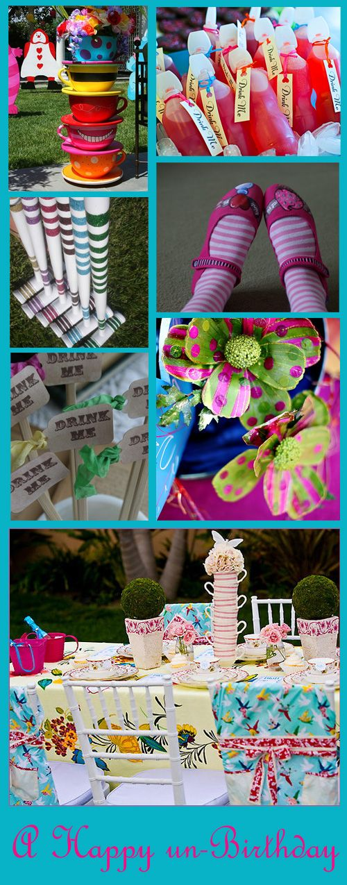 mad hatter party. great table ideas