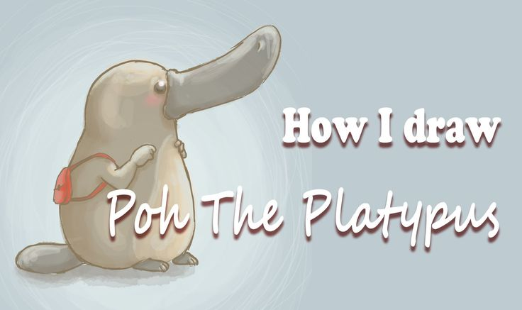 How I draw Poh the Platypus   FairyWorld84