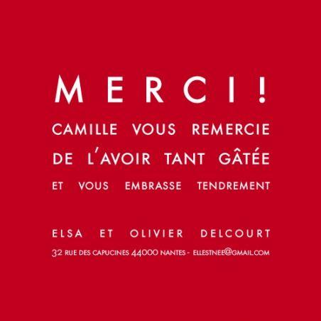 (13 coloris ! MINI FORMAT 9,5 x 9,5 cm) Carte de remerciement (thank you card): Mini bilingue justifié - by Sibylle Derkenne pour http://www.fairepartnaissance.fr #naissance #remerciement #birth