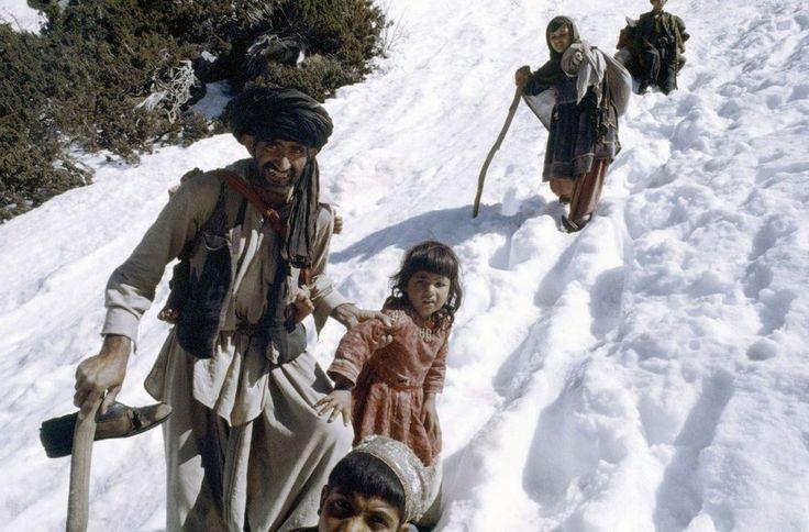 Afghan Refugees passing into Peshawar, Pakistan 1980