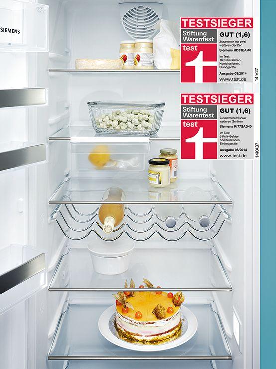Two Siemens Refrigerators Are Awarded By Stiftung Warentest! //Gleich Zwei  Siemens Kühlschränke Sind