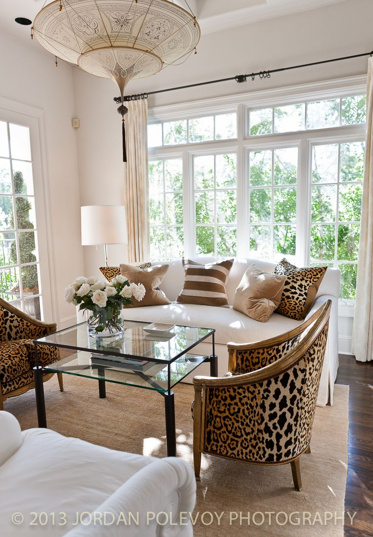 Decorista daydreams  love me some leopard chairs 224 best Decorating with Animal Prints images on Pinterest  . Animal Print Living Room. Home Design Ideas