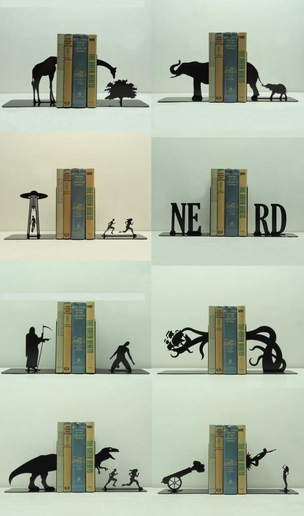 Funny pictures about Awesome bookends  Oh and cool pics Also 15 best Book Ends images on Pinterest Bookends Bookshelves
