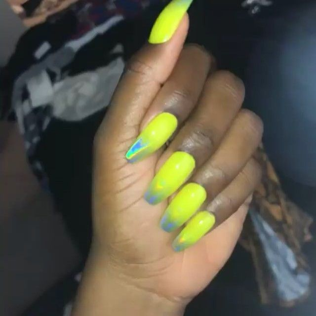Dippy Cow Nails On Instagram Jackieaina In Bright Lights All Made To Order Sets Will Be Available Again This Friday Bright Lights Lights Instagram