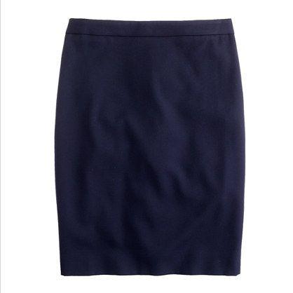 Petite pencil skirt in Super 120s