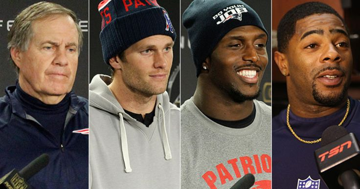 Patriots Head Coach Bill Belichick, Quarterback Tom Brady and select players comment on their upcoming AFC Championship game against the Denver Broncos during media access on Wednesday, January 20, 2016.