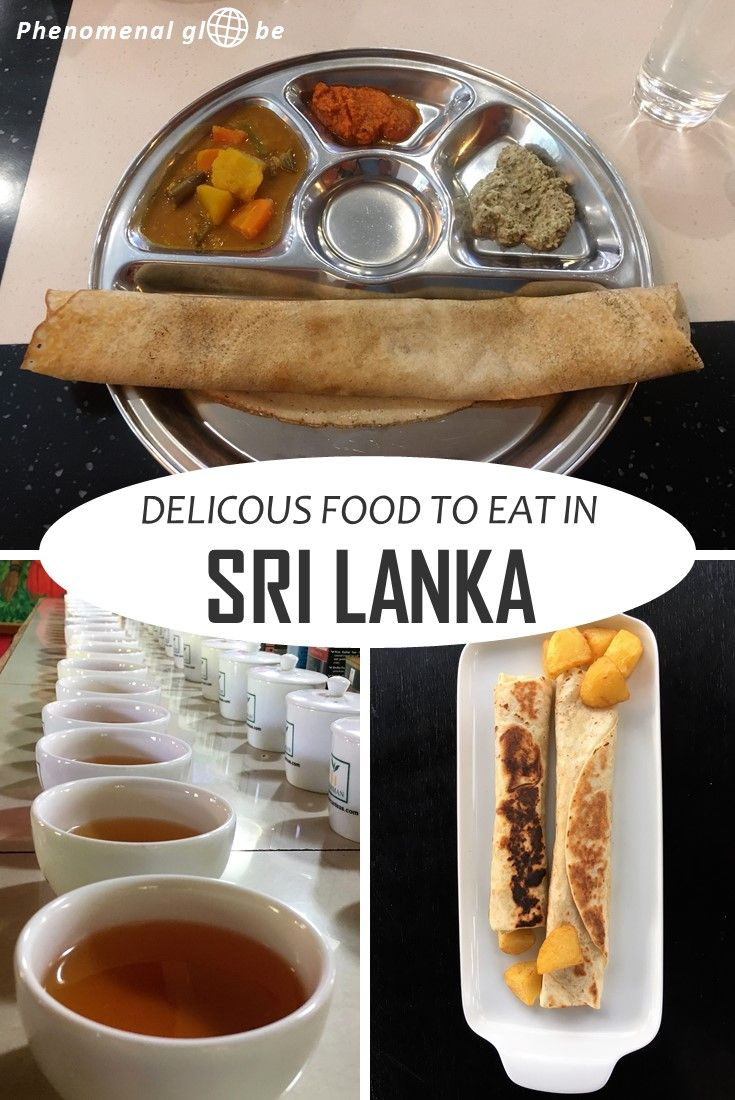 What to eat in Sri Lanka! Try out delicious Sri Lankan dishes like dosa, (egg) hoppers, rice and curry, roti, kottu, famous Ceylon tea and more...