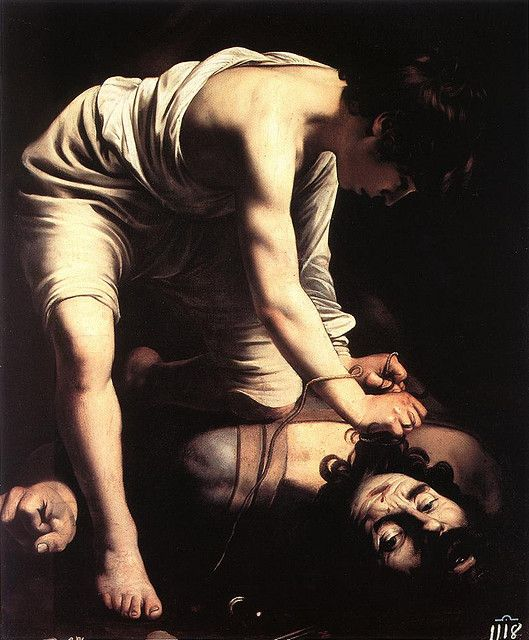 """David"", Caravaggio- Can you think of a better way to express your interest in biblical history and the dramatic effects of chiaroscuro other than slapping this on a t-shirt?"