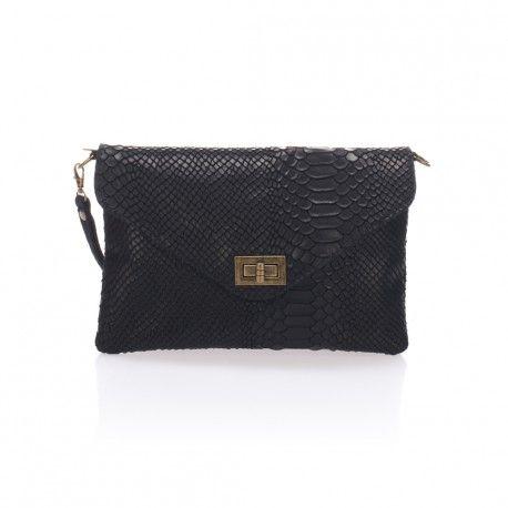 Stylewear - Lucca Baldi taske af ægte italiensk læder. Denne lækre clutch kan købes for kun 550,- på Stylewear.dk
