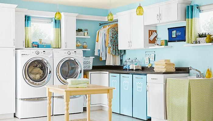 Create a laundry room that you don't dread going in.  Start with small ideas that make a big difference.