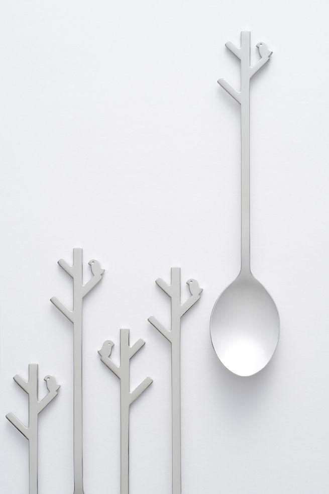 forest-spoon / 使っていないときは一本の「木」になるスプーン