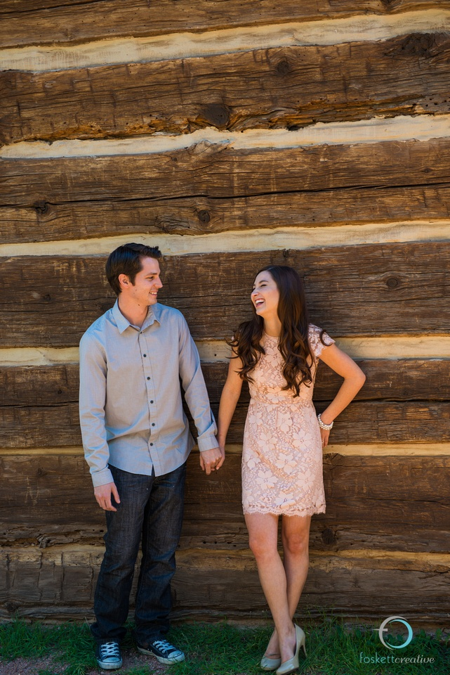 Keep your personality! Both of you have individual style, so make sure it shines through in your session! The couple dressed up and coordinated with neutrals, but both of their shoes showcase their personal style