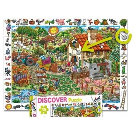 69581 - Puzzle La Granja, Discover. 35 Piezas, Diset.  http://sinpuzzle.com/puzzles-infantiles-48-piezas/588-69581-puzzle-la-granja-discover-35-piezas-diset.html