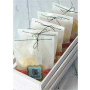 The simplicity of this project reminded me of a French Bakery! Creating homemade treats is an inexpensive and meaningful gift to give someone special. Adding some baked goods in glassine sleeves is a great way to make the gift extra special – the presentation speaks volumes.