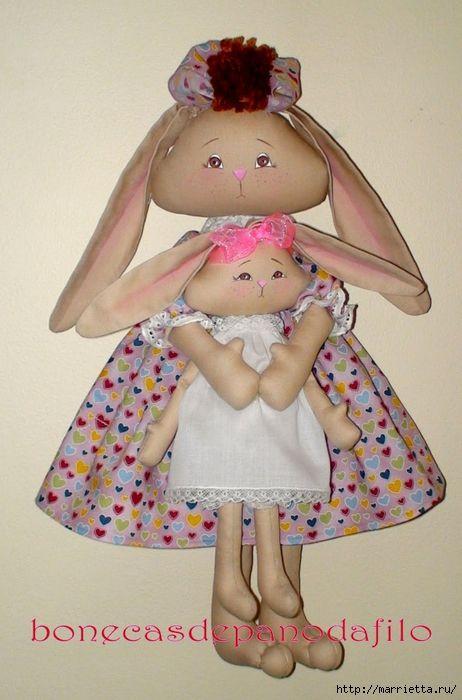тряпичные куклы ручной работы (44) (462x700, 246Kb)
