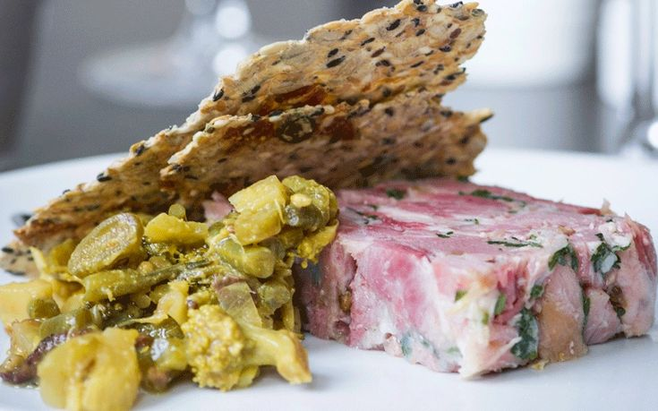 Nothing beats a classic ham hock terrine with homemade piccalilli