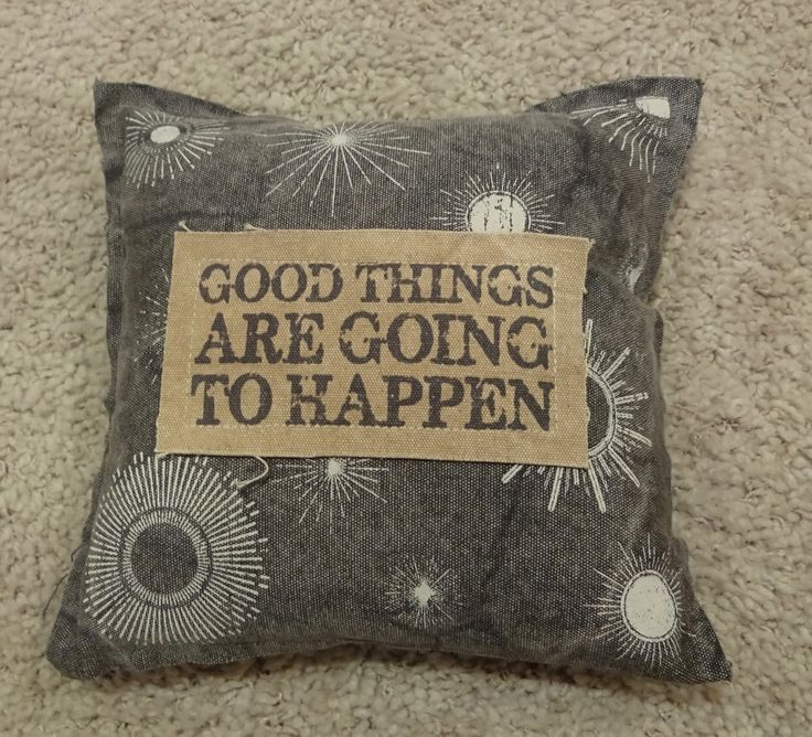 Good Things Are Going To Happen Gray & Brown Throw Pillow