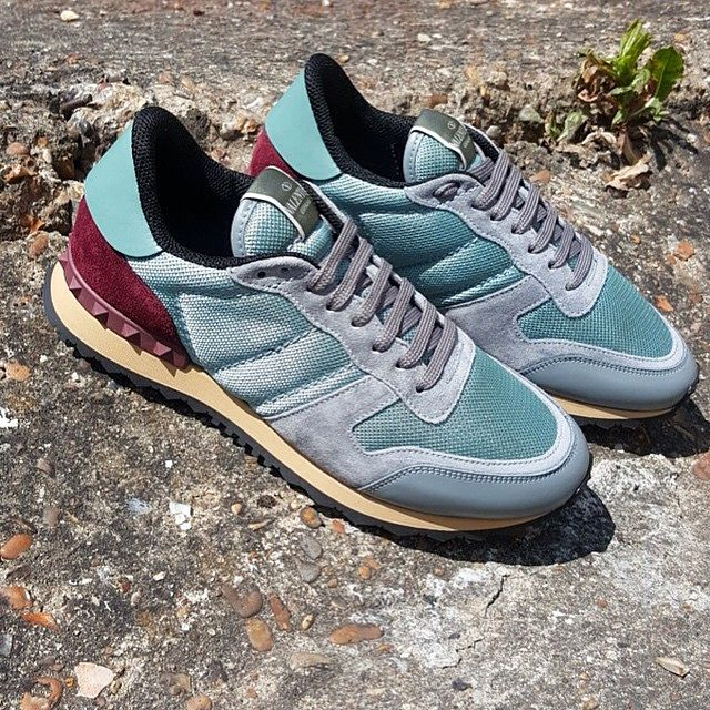 Slip into something more comfortable this SS15 with Valentino's Rock Runner sneaker. This is the perfect exponent of a everything a luxury sneaker should be. The ice blue / grey suede colours are excellent tones for Summer. #valentino #valentinogaravani #valentinorockrunner #valentinosneaker #rockrunner #runner #rockstud #valentinorockstud #luxuryfootwear #luxurysneakers #sneakerstyle #menssneakers #mensstyle #mensfashion #mensboutique #zoolife