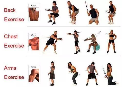 bandas de resistencia elásticas ejercicio gimnasio tonifique