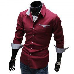 SHARE & Get it FREE | Stylish Turn Down Collar Long Sleeve Printed Spliced Button Design Men's ShirtFor Fashion Lovers only:80,000+ Items • FREE SHIPPING Join Nastydress: Get YOUR $50 NOW!