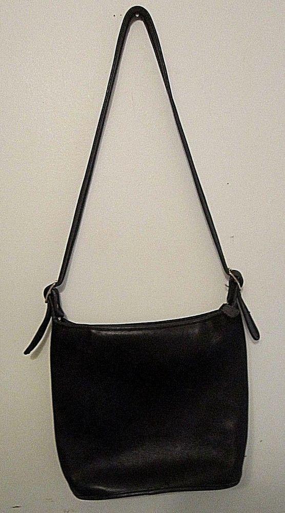 c75c63f27c AUTHENTIC COACH BLACK LEATHER SHOULDER BAG - Adjustable Strap
