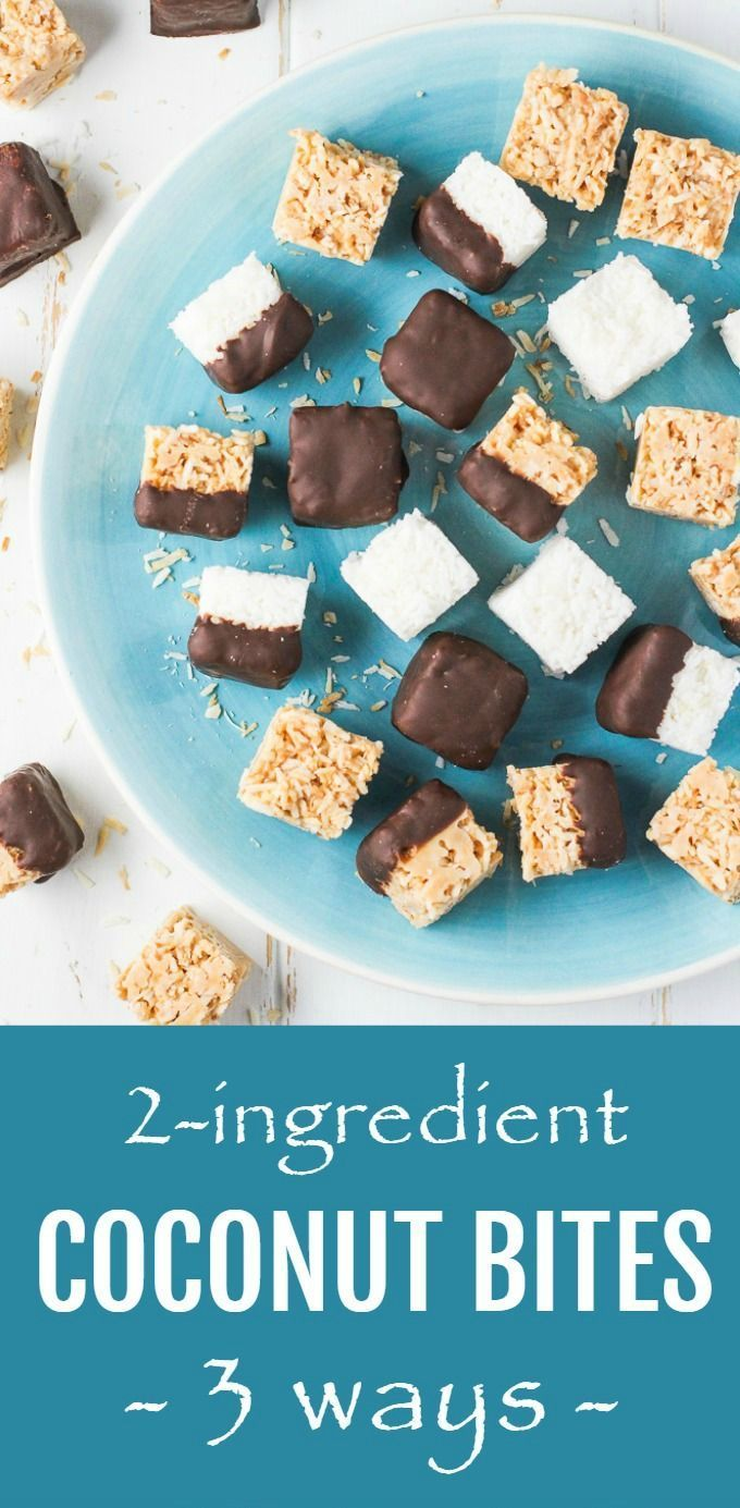 These No Bake Coconut Bites Are Made With Only 2 Ingredients You Can Make Them With Raw Or Toasted Coconu Coconut Bites Sugar Free Snacks Dessert Recipes Easy