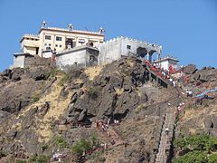 Kali Mata Temple with pathway of steps, Gujarat