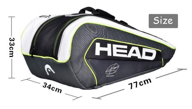 Head Tennis Bag Can Hold 6-9 Tennis Rackets