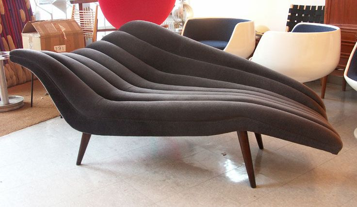 Ultra chic chaise lounge modernist fainting couch for Fainting couch