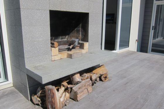 Fireplace - Mangawhai Heads bach or holiday home