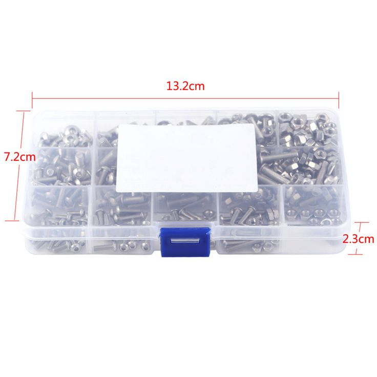 sale 440pcs stainless steel hex socket screws m3 m4 m5 mayitr button head bolts nuts kit with #stainless #steel #bolts