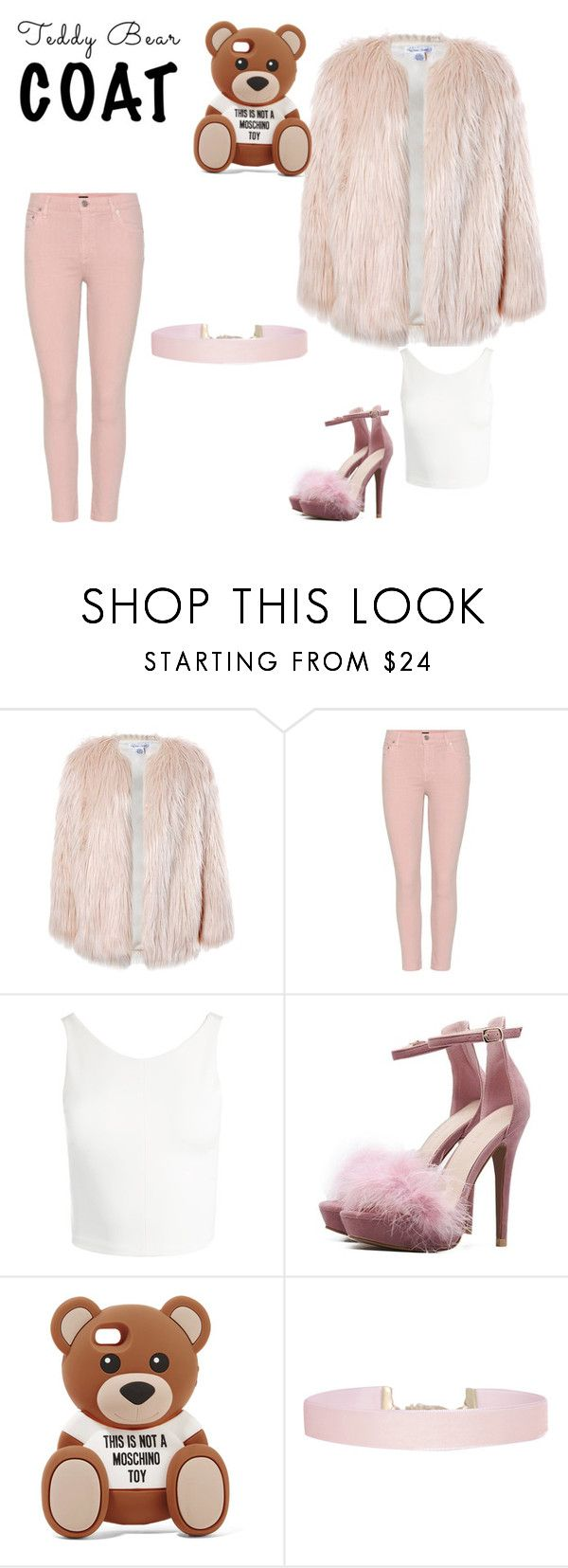 """""""Pink Teddy bear"""" by mira-bira ❤ liked on Polyvore featuring Sans Souci, Citizens of Humanity, Moschino and Humble Chic"""