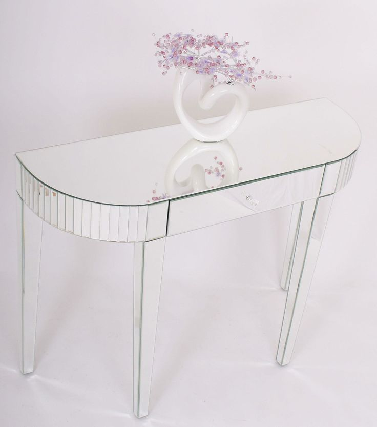 Bevel Edged Mirrored Console Table