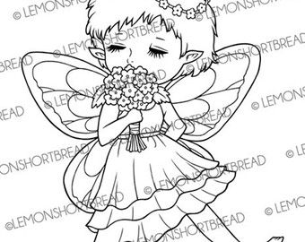Digitale Stempel Fee Blume Duft Digi Digistamp von lemonshortbread