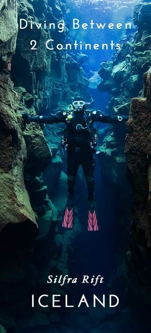 Diving Between Two Continents in Silfra, Iceland. Click through to watch a…