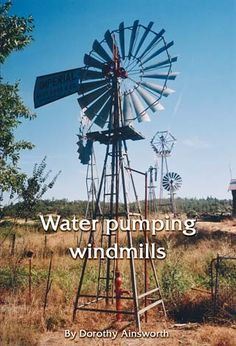 How Water Pumping Windmills Operate – Off The Grid. Water pumping windmills By Dorothy Ainsworth ~ Backwoods Home Magazine shares a wonderfully informative article on how windmill powered windmills operate.  Homesteads for generations have been using wind power to pump water with great success.  This article explains what a water pumping windmill is, uses, having a well drilled, finding installing and maintaining a windmill and an irrigation tank.