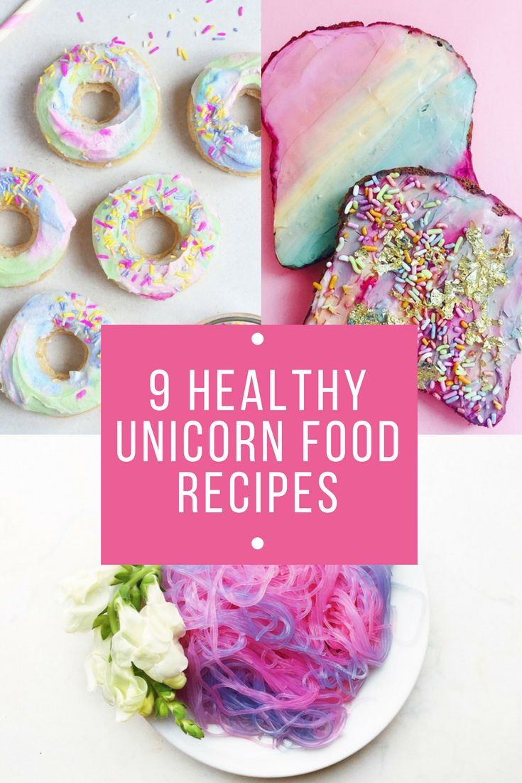 9 Healthy Unicorn Food Recipes Dessert Recipes 洋菓子