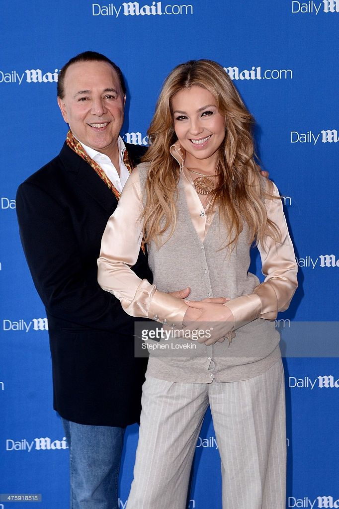 Tommy Mottola And Thalia Sodi attend the DailyMail.com Answers To Correspondents With Tommy Mottola And Thalia Sodi at Riverpark Restaurant on June 4, 2015 in New York City.