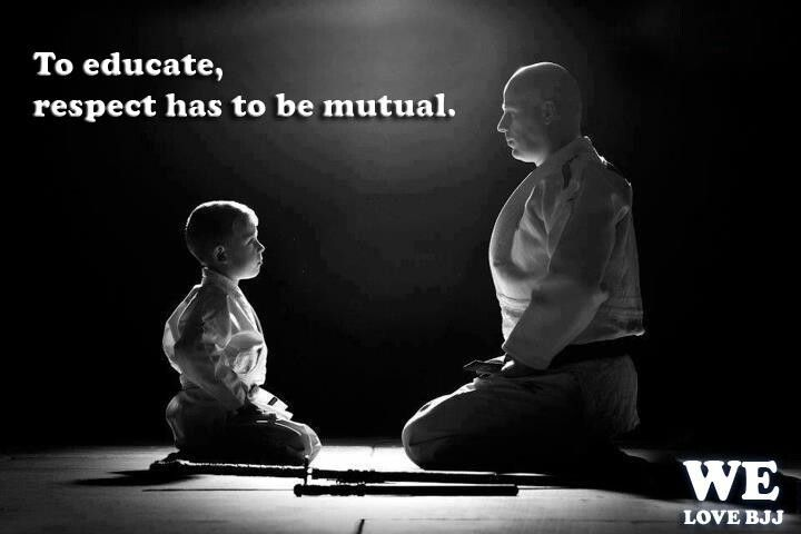 """To educate, respect has to be mutual"""