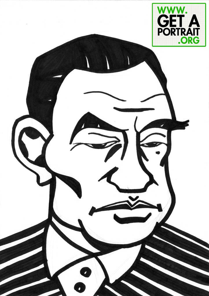 Caricature of Tudor Vianu, Romanian writer — Get a high quality PORTRAIT or CARICATURE from a pro, for an unbeatable price! http://GetAPortrait.org